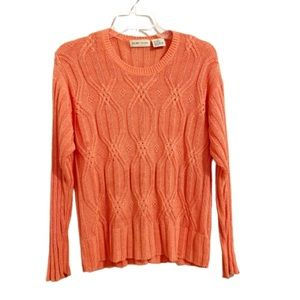SIGRID OLSEN Cable Knit Lightweight Sweater